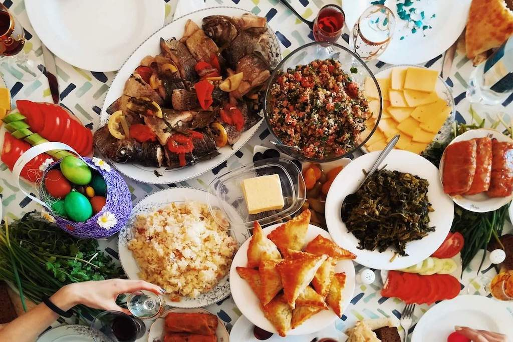 Georgisch eten op tafel