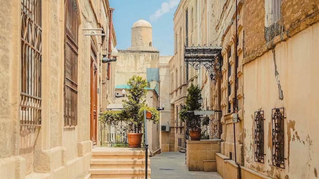 Oude stad van Bakoe in Azerbeidzjan