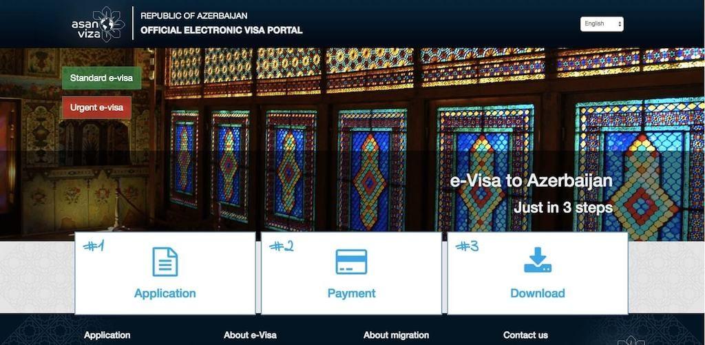 Portaal van de online visum aanvraag van Azerbeidzjan