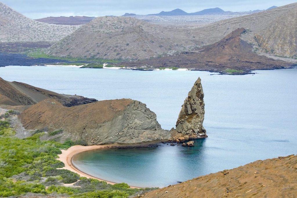 Baai op de Galapagos eilanden