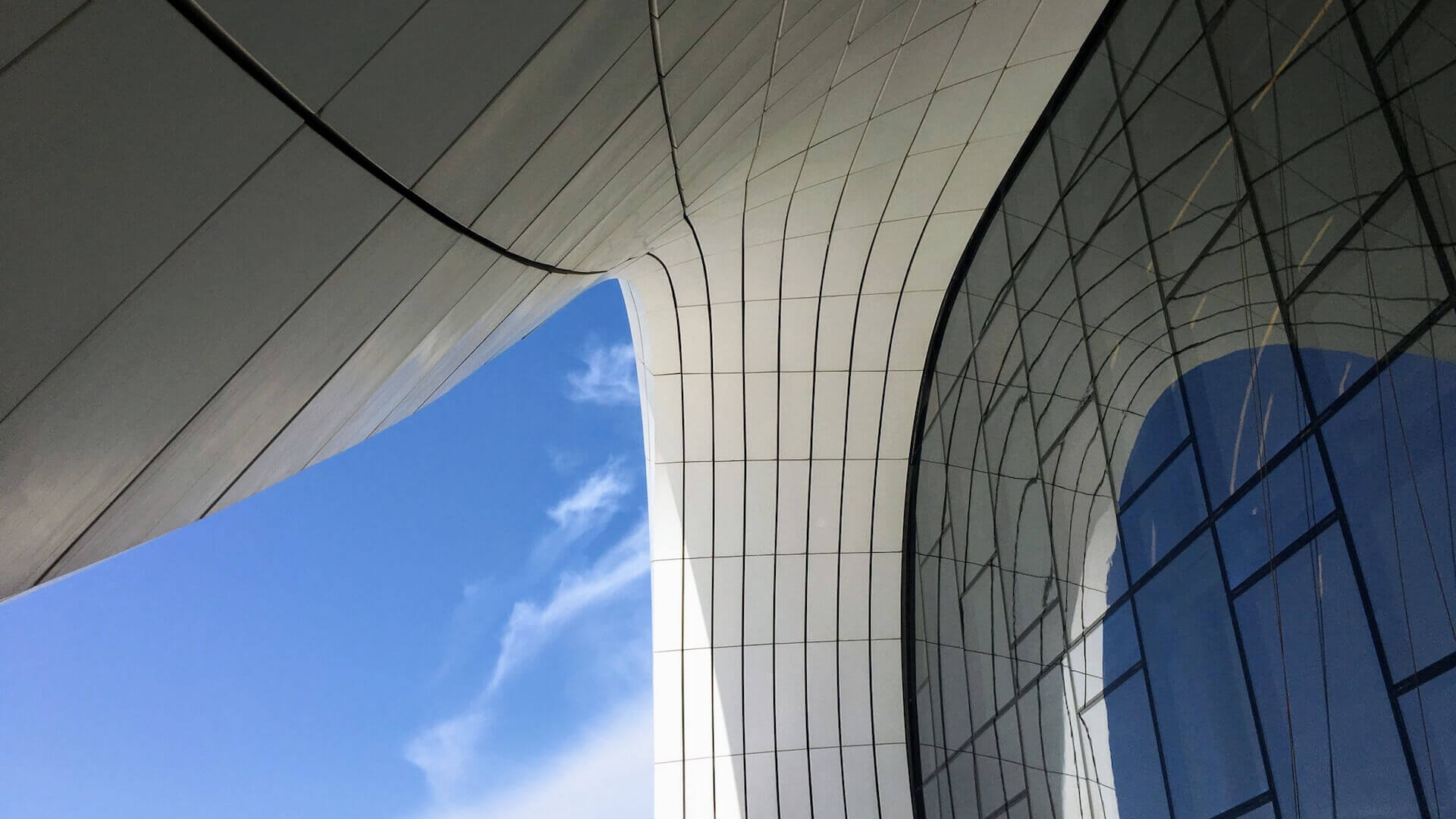 Heydar Aliyev Center in Bakoe, Azerbeidzjan