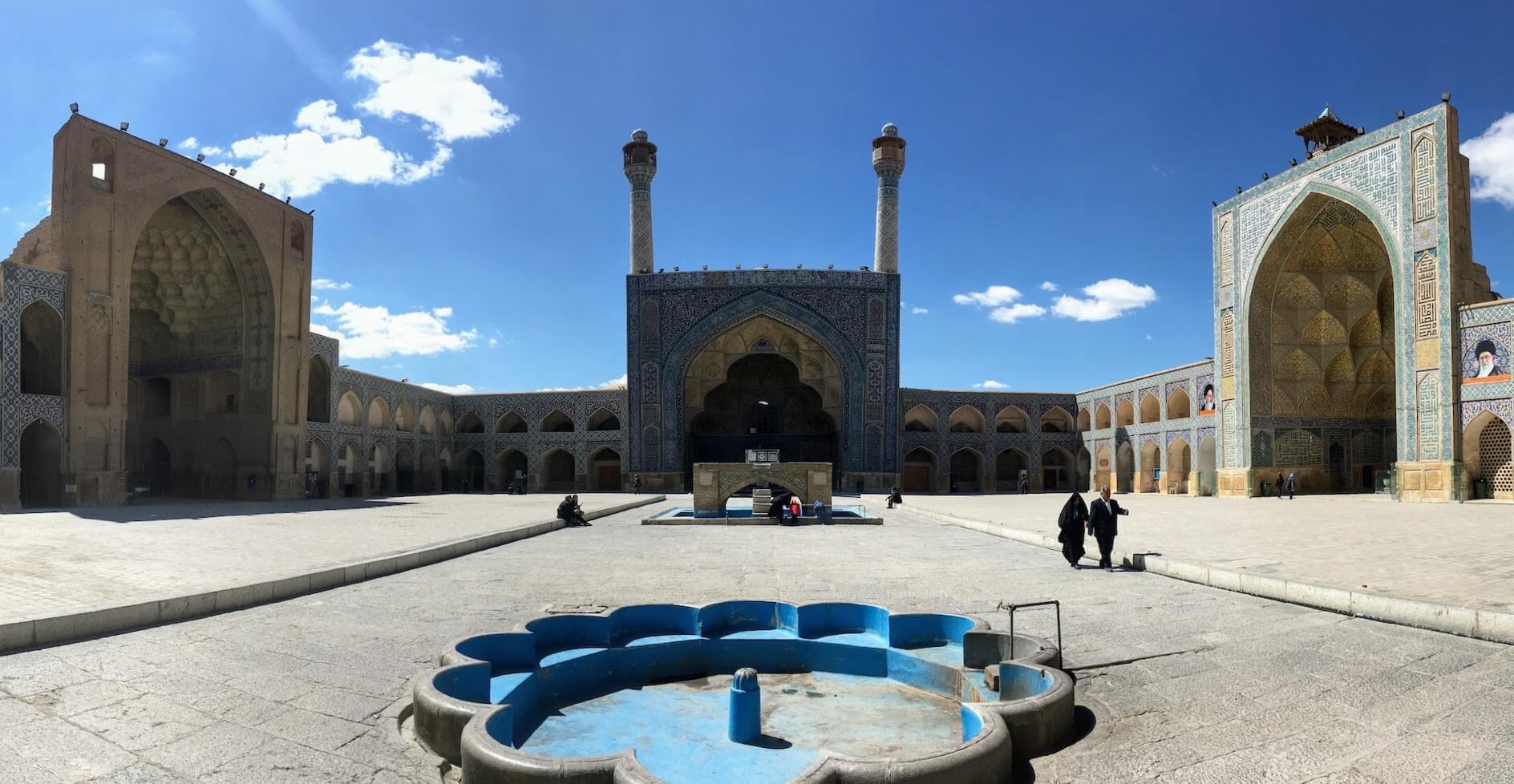 Binnenplaats van de vrijdagmoskee in Isfahan