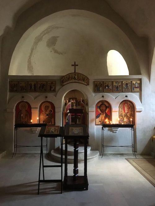 Kapel in het klooster van David Garedzja in Georgië