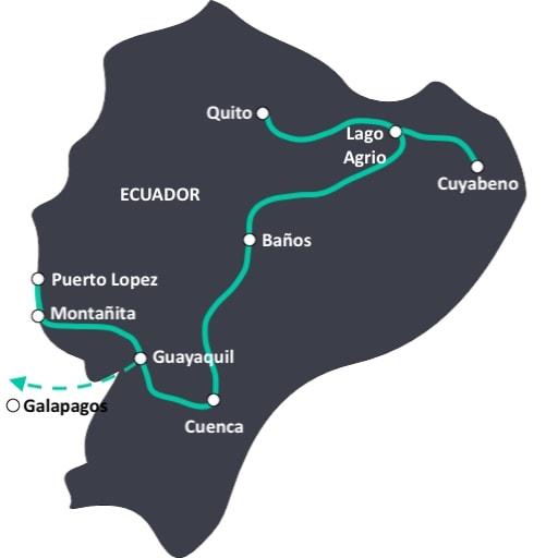 De ideale reisroute door Ecuador. Langs alle hoogtepunten in twee tot drie weken.