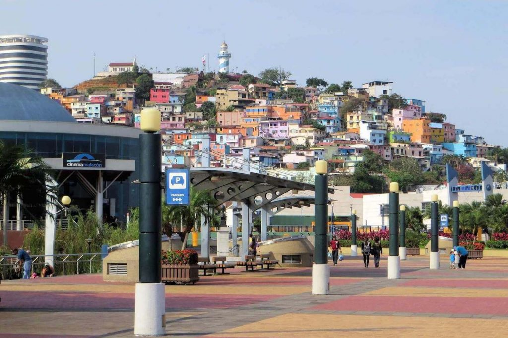 De oude stad Las Penas in Guayaquil