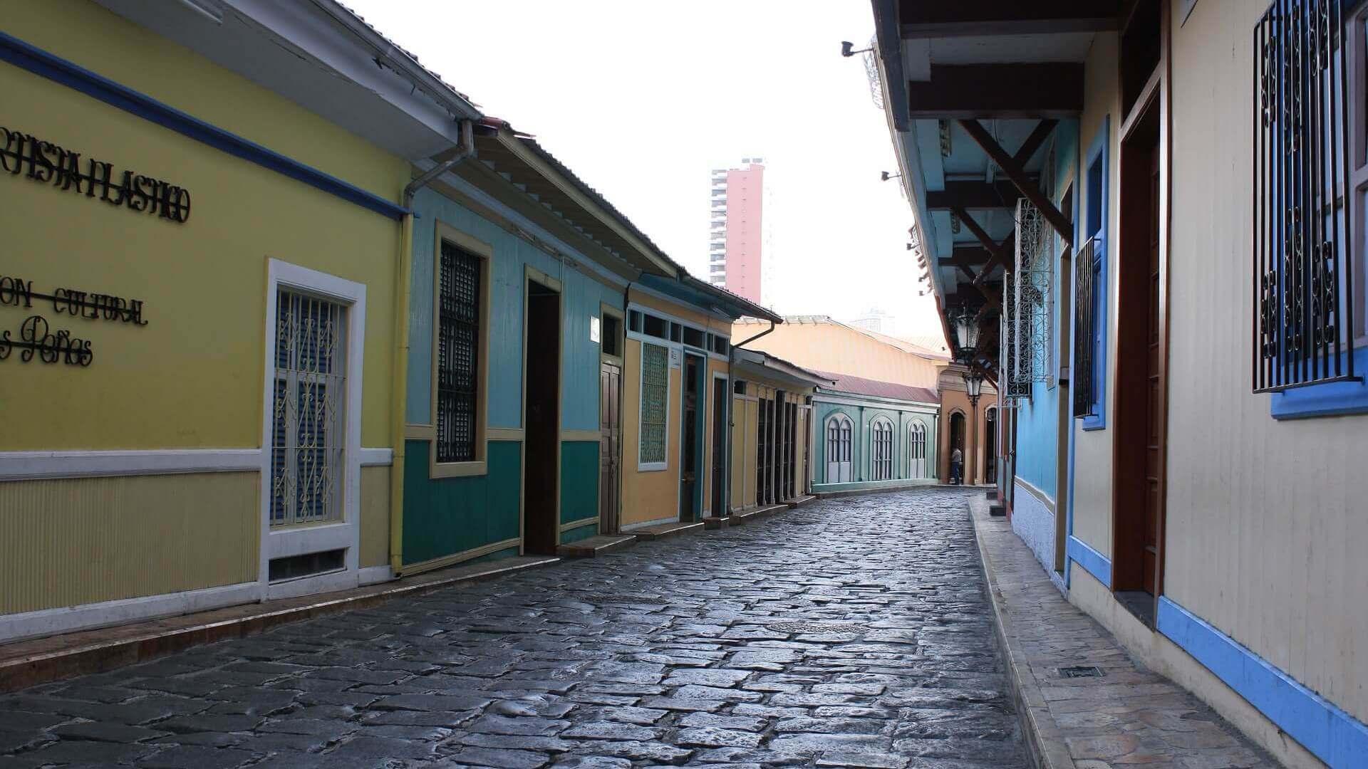Straatje in Las Penas in Guayaquil
