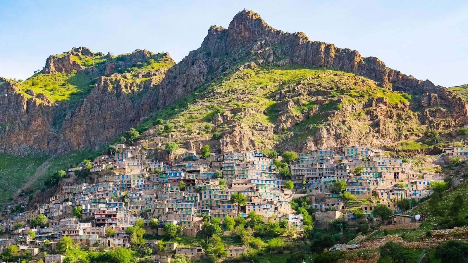 Het dorpje Oraman in Iraans Koerdistan