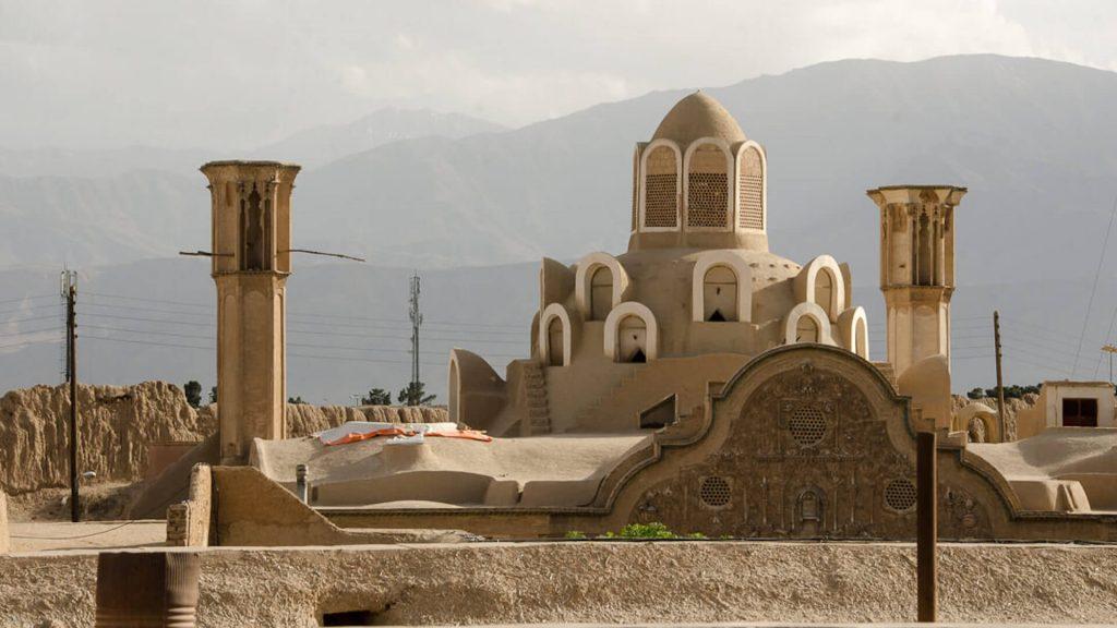 Het borujerdishuis in het centrum van Kashan in Iran
