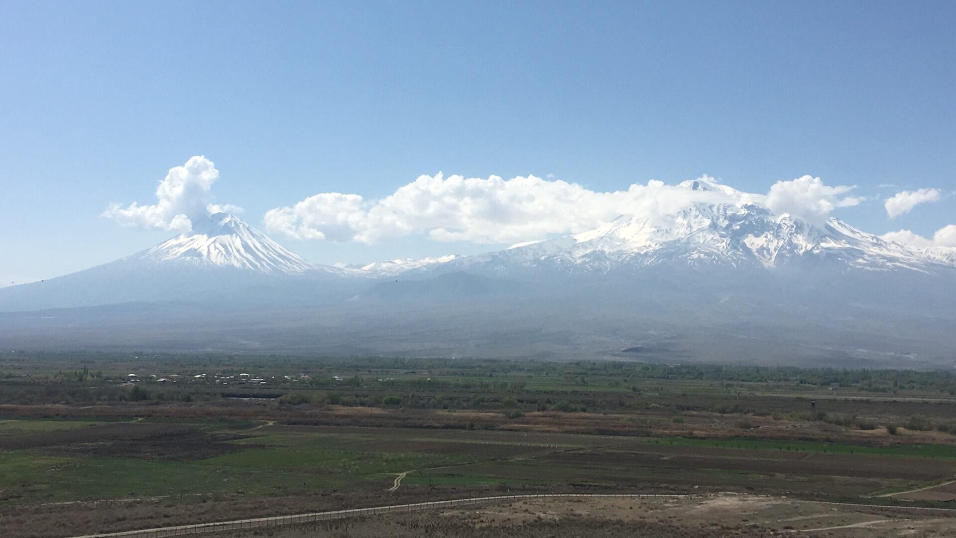 Uitzicht op de Araratberg