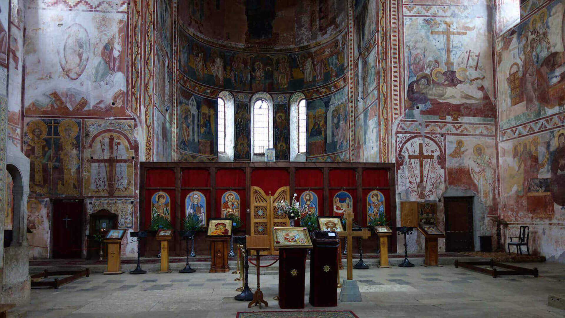Kapel in een kerk ik Kutaisi