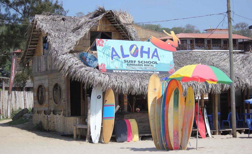 Surfschool in Montañita, Ecuador