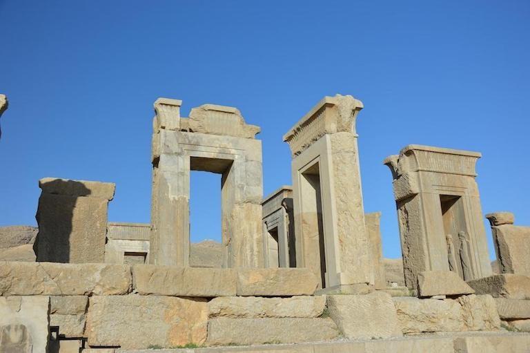 Overblijfselen van de oude Perzische stad Persepolis