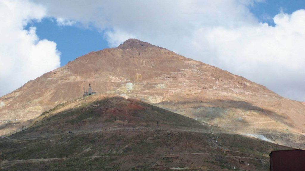 De Cerro Rico berg in Potosi, Bolivia
