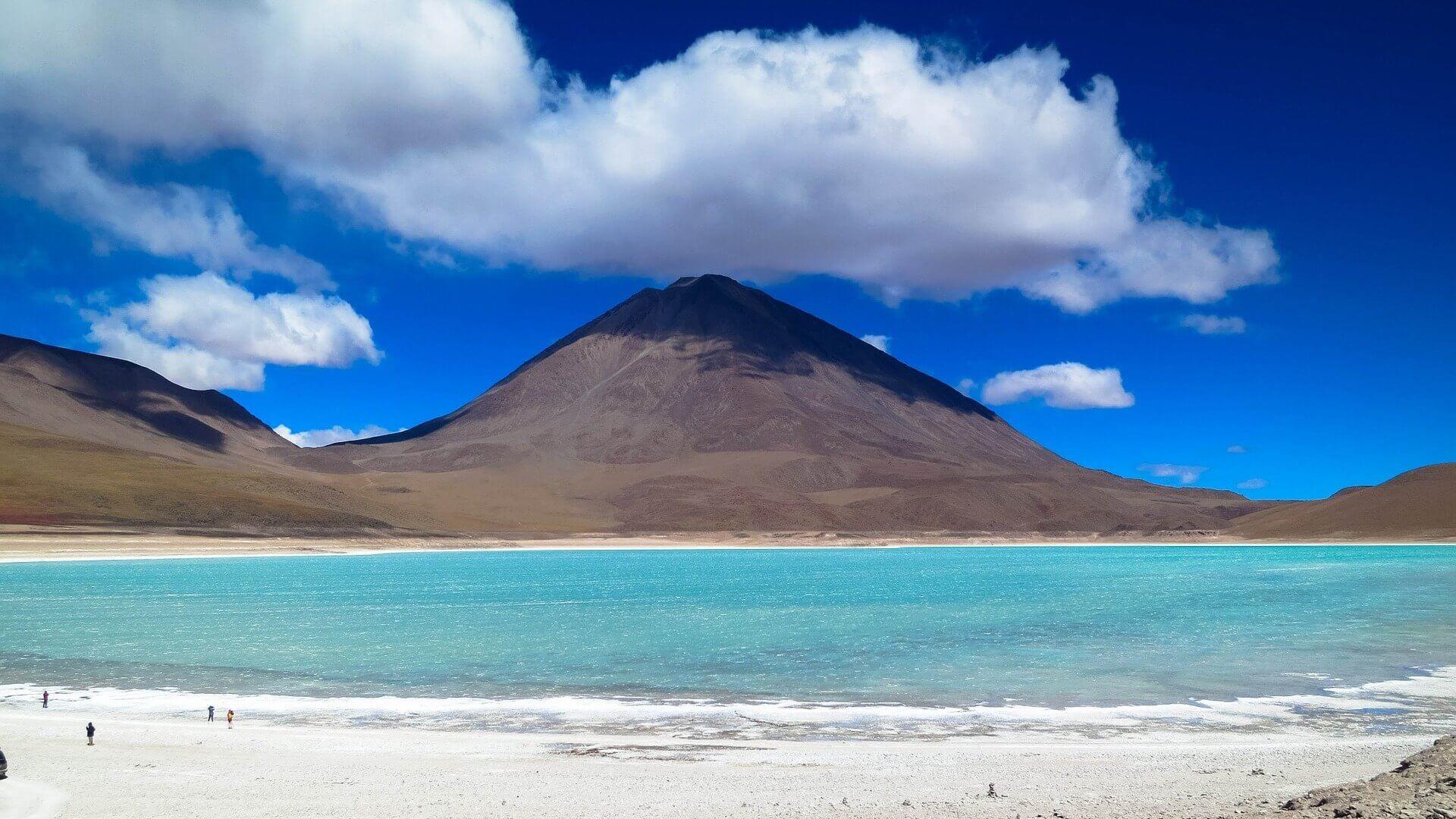 Laguna Verde en bergen in Bolivia