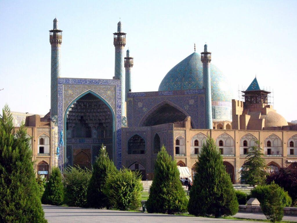 Moskee van de sjah in Isfahan vanaf het Imamplein