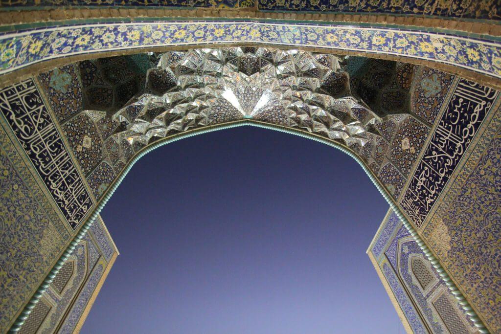 Plafond van de Sjeik Lotfollah moskee in Isfahan