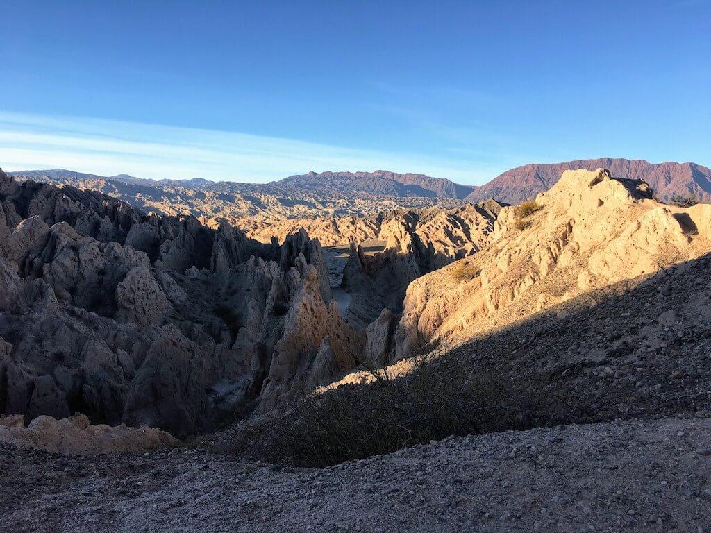 Uitzicht op de Quebrada las Flechas in Argentinië