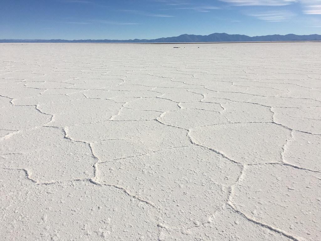 Zoutvlakte Salinas Grandes in Argentinië