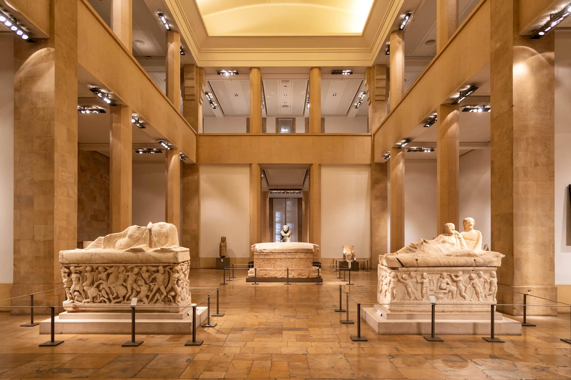 Zaal in het Nationaal Museum van Beiroet
