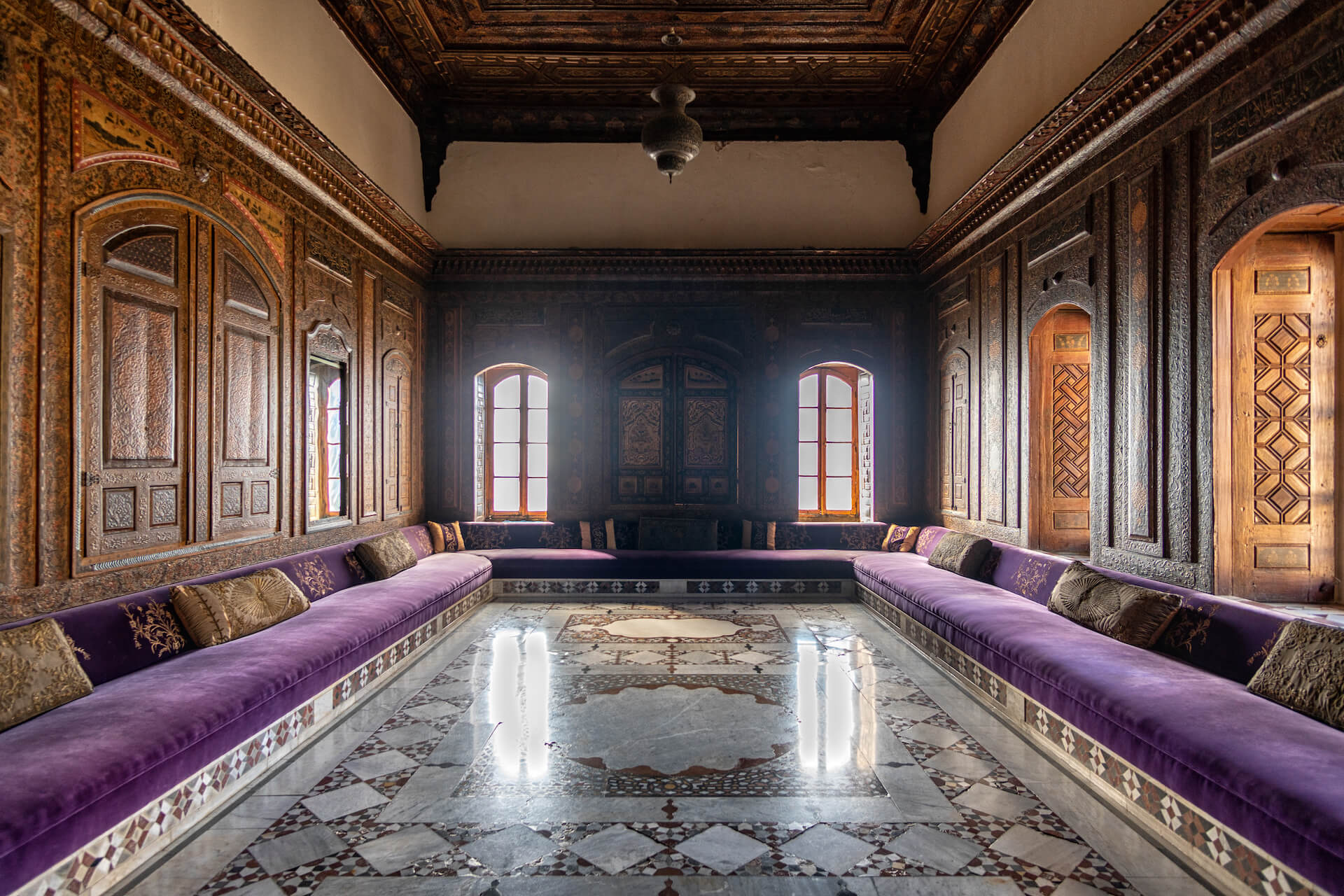Kamer in het Beiteddine Paleis in Libanon