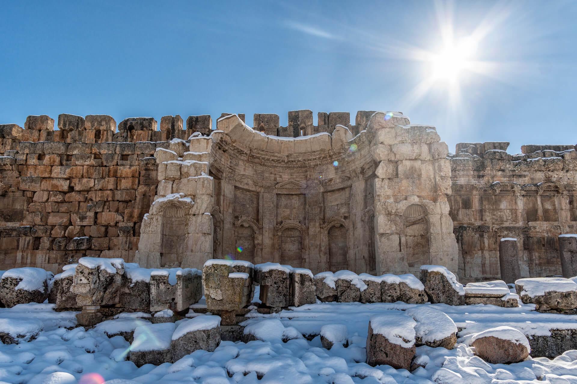 Ruine van een basiliek in Baalbek