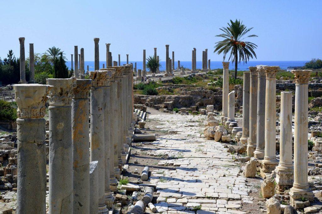 Romeinse straat in Tyre