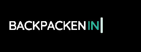 Logo van Backpackenin.nl voor de header van de website